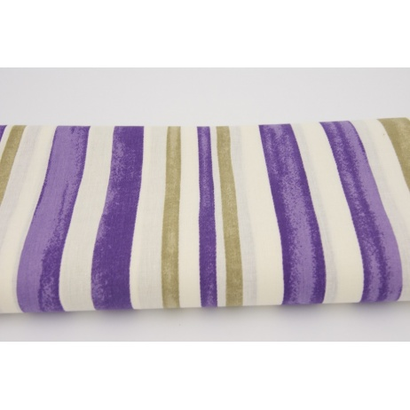 Cotton 100% violet stripes