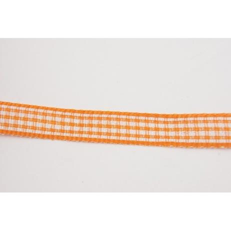 Tasiemka, wstążka pepitka pomarańczowa 10mmx1m