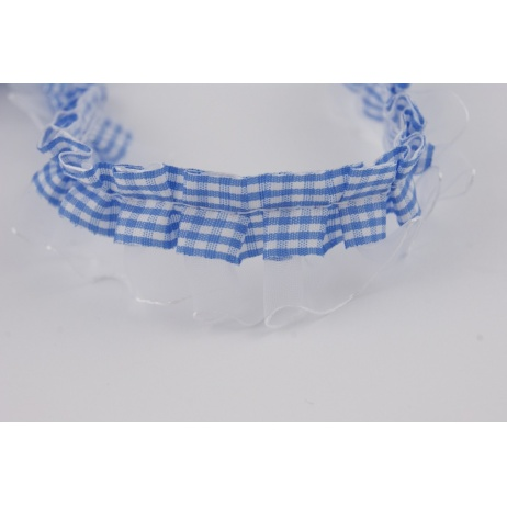 Ribbon frill blue check