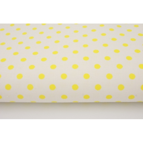 Cotton 100% lemon dots on a white background