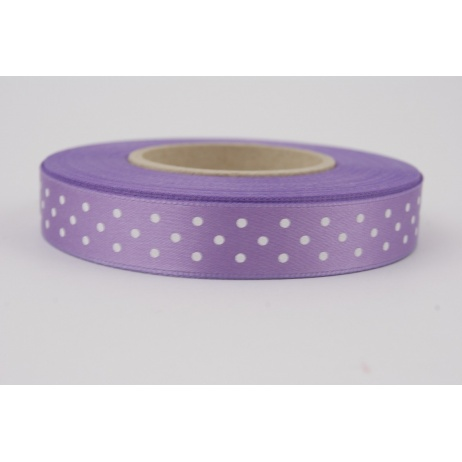 Ribbon violet dotted 15mm