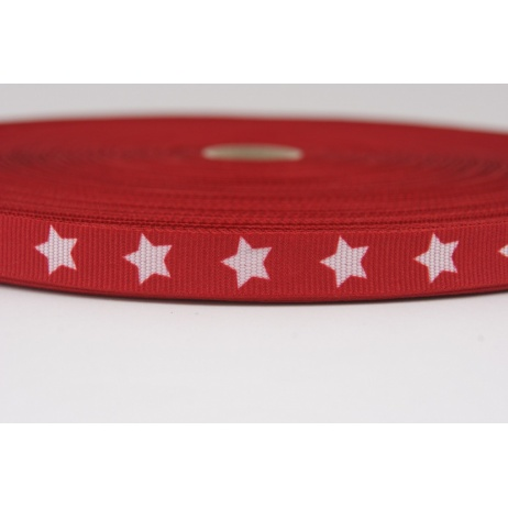 Grosgrain red ribbon stars