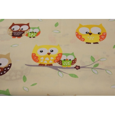 Owls on a vanilla background