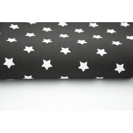 Bawełna 100% gwiazdki białe na czarnym tle