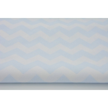 Cotton 100% blue chevron zigzag