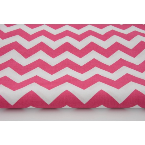 Cotton 100% fuchsia chevron zigzag