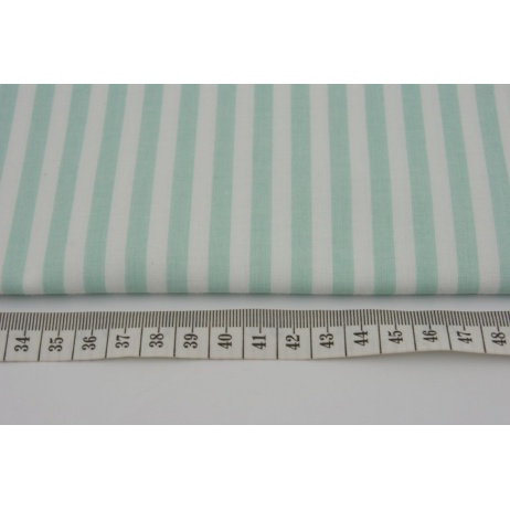 Cotton 100% 6mm mint stripes