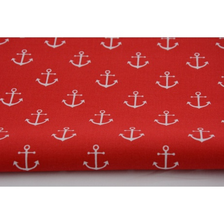 Cotton 100% anchors on red background