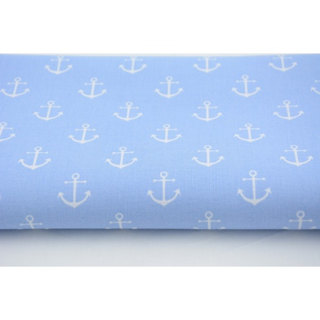 Cotton 100% anchors on blue background