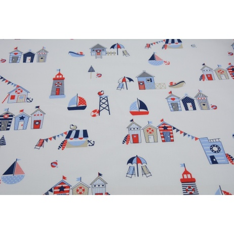 Beach huts cotton 100%