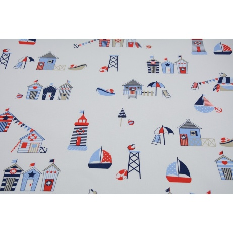 HOME DECOR Beach huts strong cotton 100%