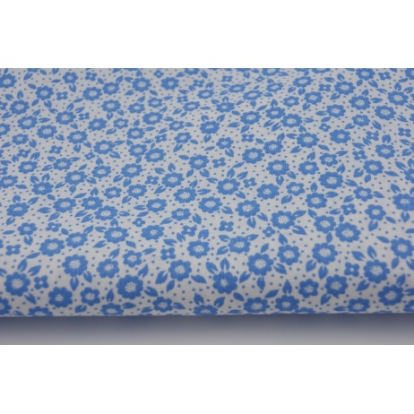 Cotton 100% blue meadow
