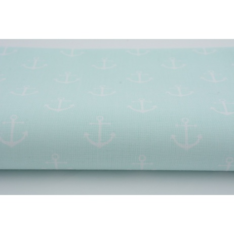 Cotton 100% anchors on mint background