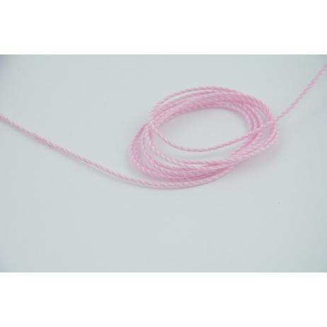 Sznurek bawełniany biało różowy 2mmx2m