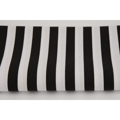Cotton 100% black stripes 15mm