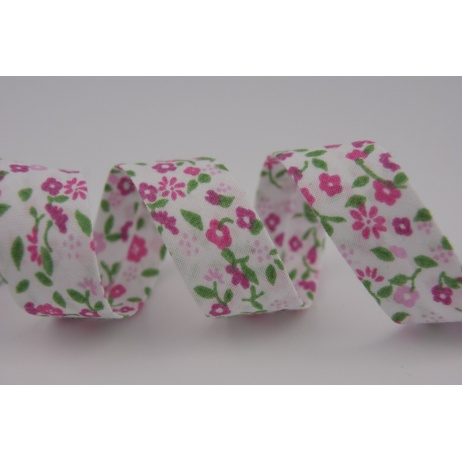 Cotton bias binding pink meadow