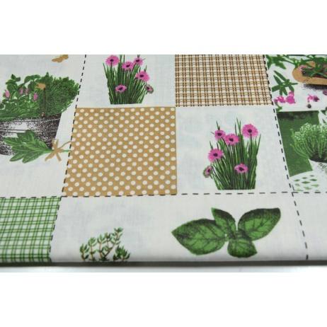 Bawełna 100% patchwork kwiatowy