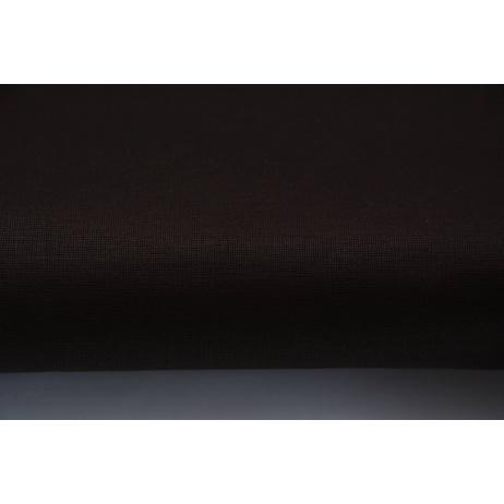 Bawełna 100% ciemnobrązowa, gorzka czekolada jednobarwna - tkanina błyszcząca