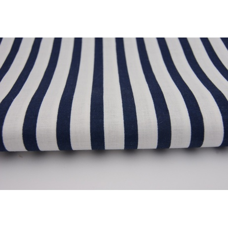 Cotton navy blue stripes