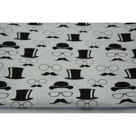 Bawełna 100% okulary, wąsy, meloniki i kapelusze