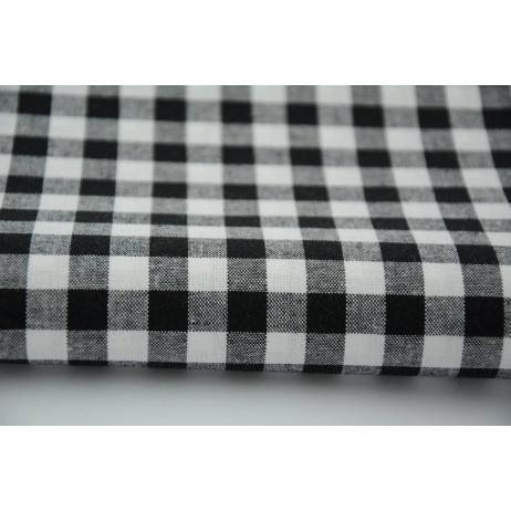 Bawełna 100% kratka vichy, dwustronna czarna 1cm