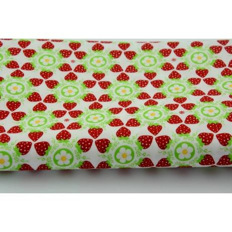 Bawełna 100% kwitnące mini truskawki