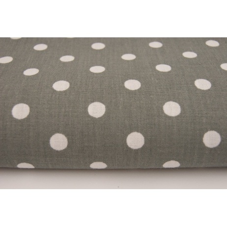 Cotton 100% gray polka dots 7mm