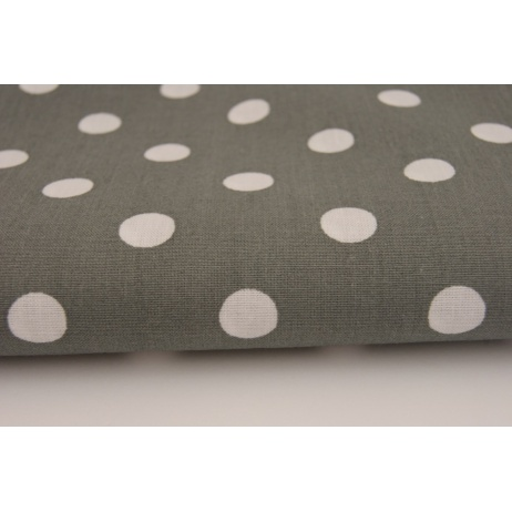 Cotton 100% gray polka dots 10mm