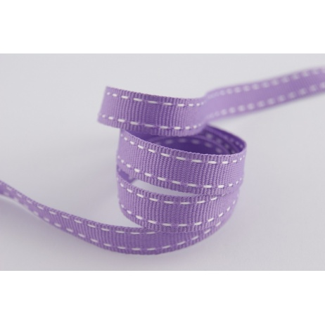 Stitched grosgrain lavender ribbon