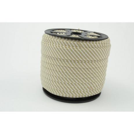 Lamówka bawełniana w 2mm beżowe paseczki