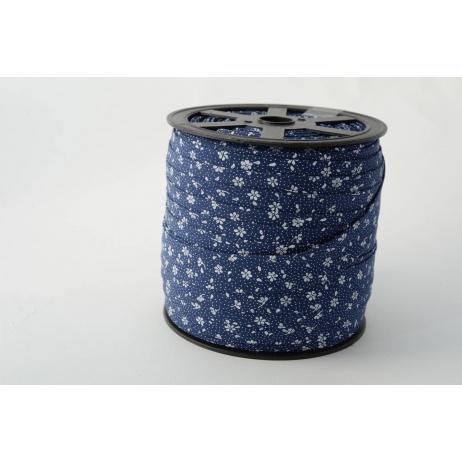 Lamówka bawełniana łączka na granatowym