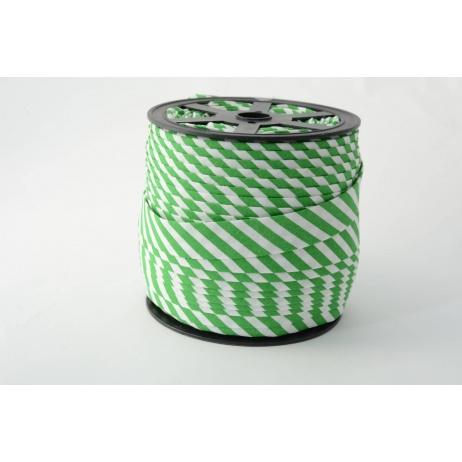 Lamówka bawełniana w  5mm ciemno zielone paseczki