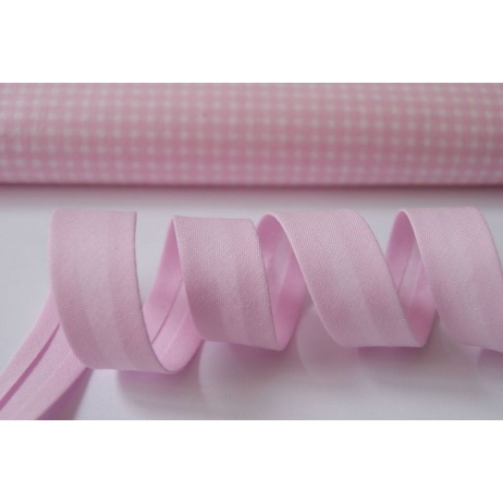 Cotton bias binding pink 18mm