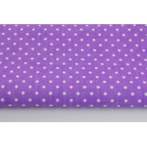 Cotton 100% dots 4mm on a violet background