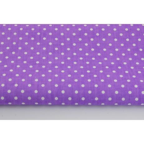 Bawełna 100% kropki 4mm na fioletowym tle *1m*