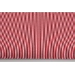 Cotton 100% burgundy stripes 2x1mm on a white background