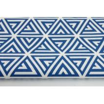 Cotton 100% dark blue pyramids on a white background