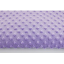 Dimple dot fleece minky in light violet color