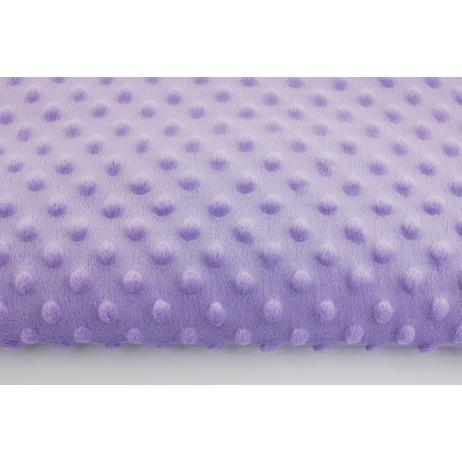Dimple dot fleece minky in light violet color