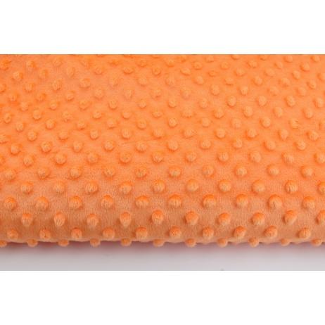 Polar z wytłaczanymi bąbelkami minky pomarańczowy