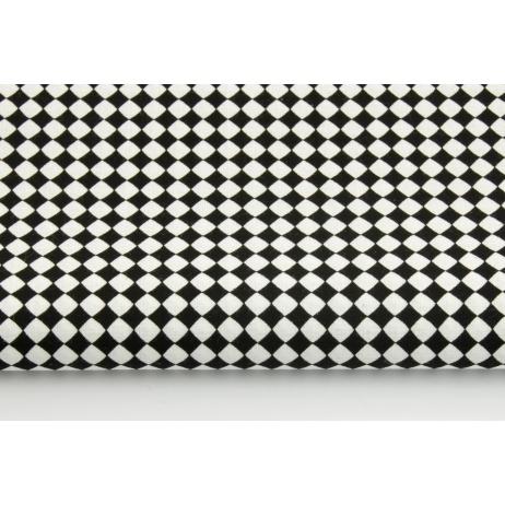 Bawełna 100% mikro romby czarne