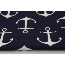 Home Decor, large white anchors on a navy background 220g/m2