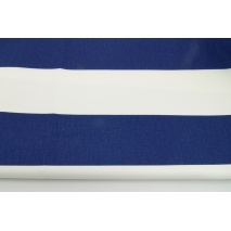 Home Decor, navy stripes 9.5 cm on a white background 220g/m2
