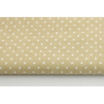 Cotton 100% dots 4mm on a beige background