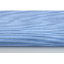 Bawełna 100% niebieskie drobne paseczki