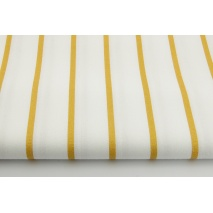 Cotton 100% gold stripes 5mm on a white background