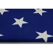 Cotton 100% big stars on a navy background 2
