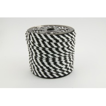 Cotton edging ribbon 5mm black stripes