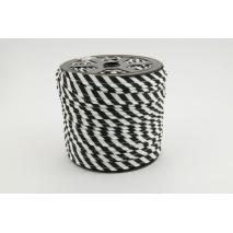 Wypustka bawełniana 5mm czarne paski
