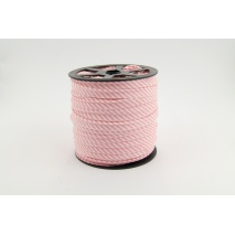 Cotton edging ribbon 2mm coral stripes